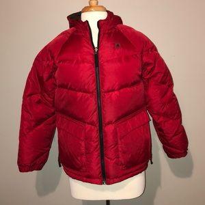 Men's red raincoat